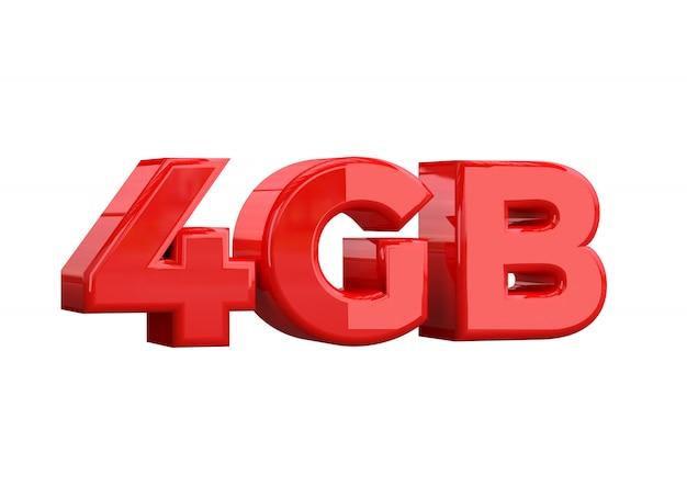 4 gb di capacità di archiviazione