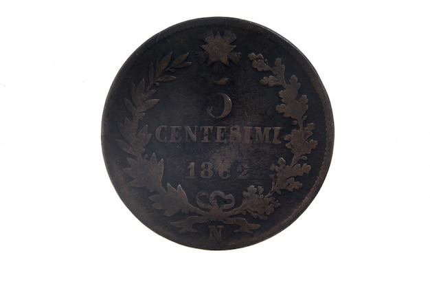 5 centesimi, 1862 moneta italiana