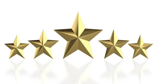 5 stelle dorate