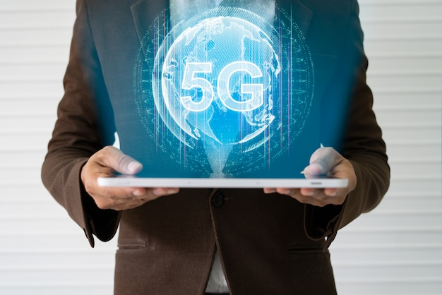 5g e concetto di internet of things.