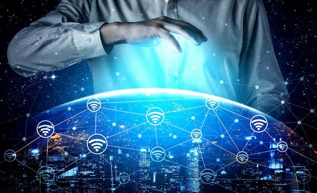 5g tecnologia di comunicazione della rete internet