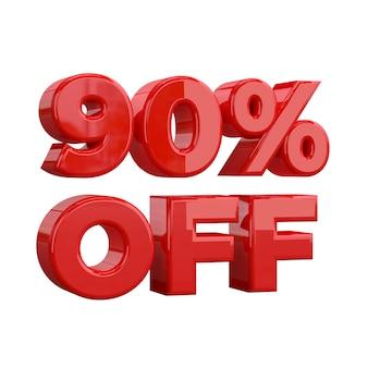 90% di sconto, offerta speciale, grande offerta, vendita. novanta percento
