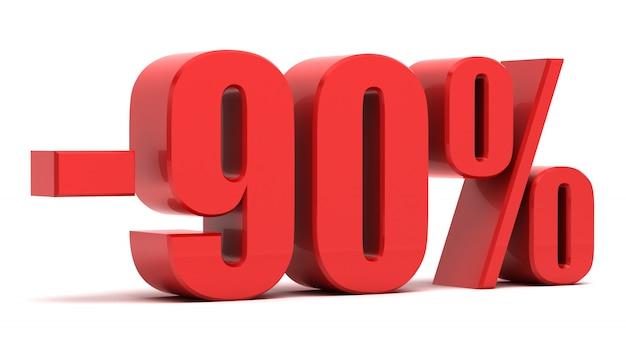 90 per cento sconto testo 3d