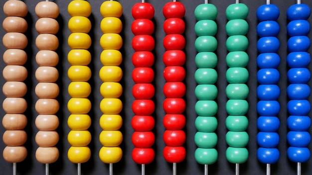Abaco colorato per l'apprendimento matematico