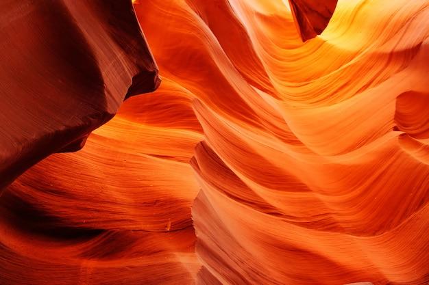 Abbassi il canyon dell'antilope nella prenotazione navajo vicino alla pagina, l'arizona usa