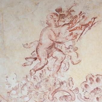 Abbozzo murale sul muro, bellas artes, san miguel de allende, guanajuato, messico
