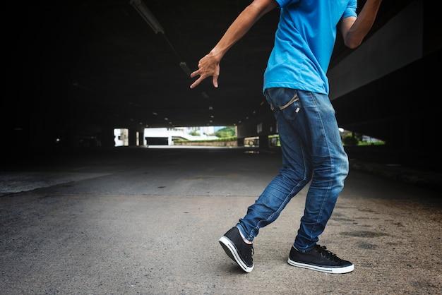 Abilità di ballo di breakdance concetto di streetdance di abilità