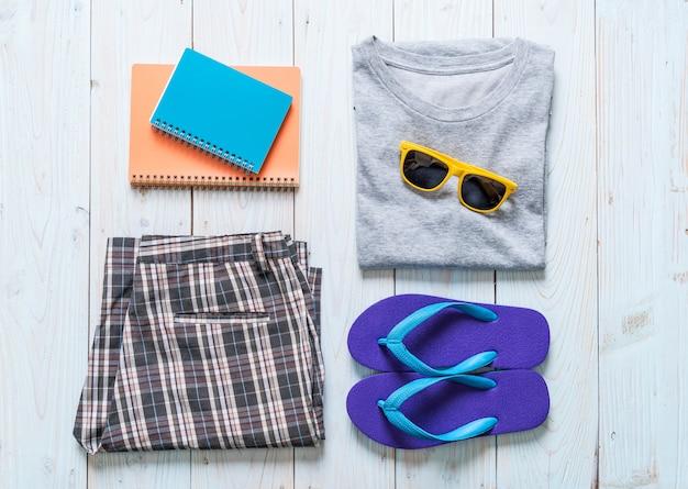 Abiti casual da uomo per viaggiatori, vacanze estive