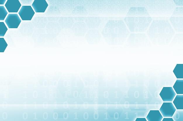 Abstract background tecnologico composto da un insieme di esagoni
