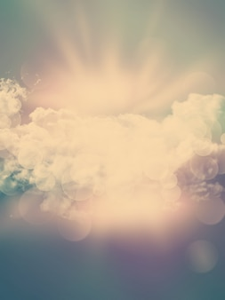 Abstract clouds background con effetto vintage aggiunto