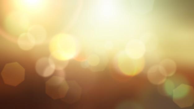 Abstract estate sfondo con luci bokeh disegno