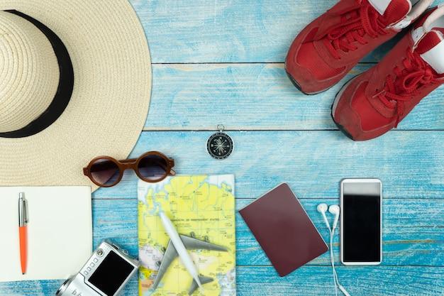 Accessori da viaggio per viaggio di vacanza