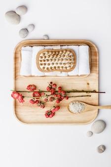 Accessori spa. concetto di stile di vita sano. bellezza, cura della pelle