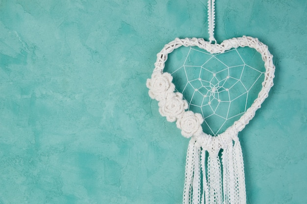Acchiappasogni cuore bianco