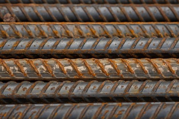 Acciaio, costruzione d'acciaio, ferri da costruzione per l'edilizia, pila di acciaio nervato