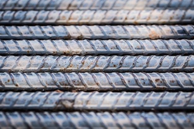 Acciaio solido sfondo solido, barre di acciaio di metallo.