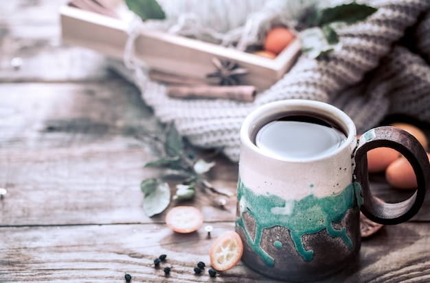 Accogliente tazza di tè