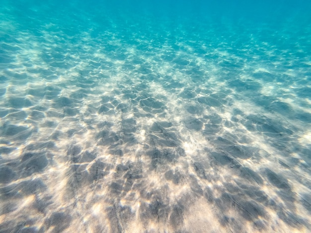 Acqua cristallina, riprese subacquee sul fondo del mare