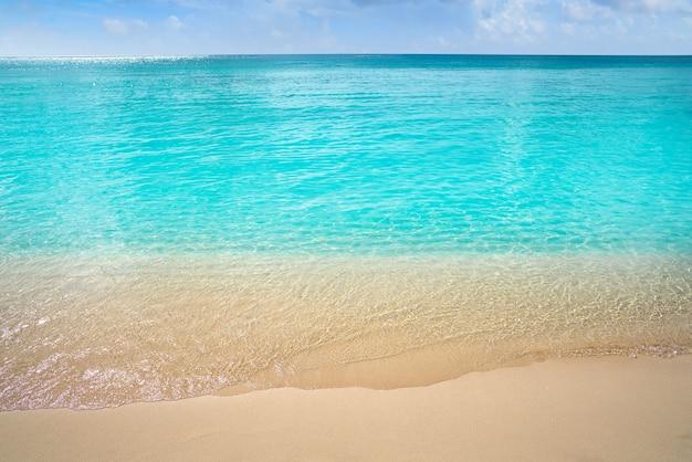 Acque pulite della spiaggia turchese caraibica