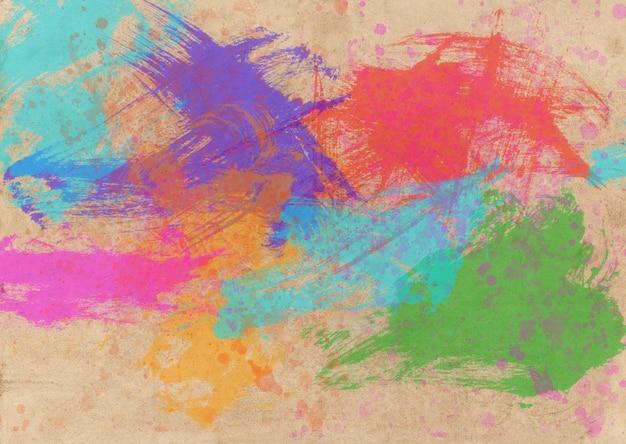Acquerello astratto colorato.