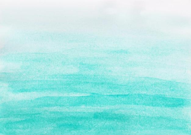 Acquerello astratto del cielo blu su fondo bianco