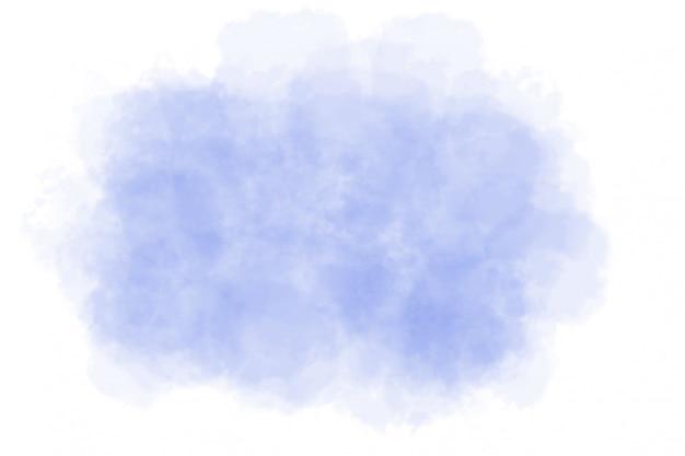 Acquerello blu astratto su bianco