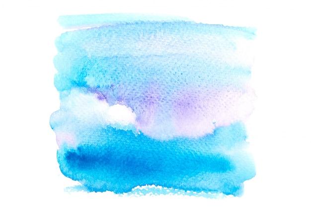 Acquerello blu chiaro con sfumature colorate vernice colpo sfondo