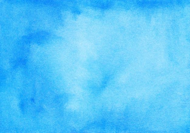 Acquerello calma sfondo blu trama dipinta a mano
