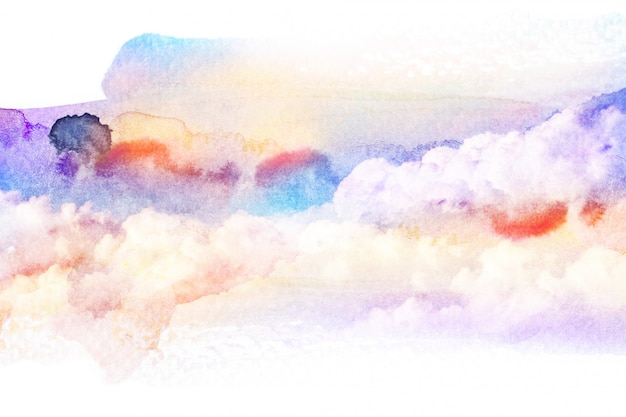 Acquerello di nuvola.