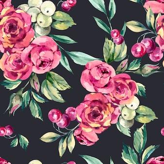 Acquerello fiori rossi disegno