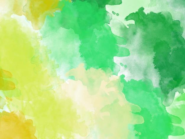 Acquerello sfondo acquerello astratto verde giallo