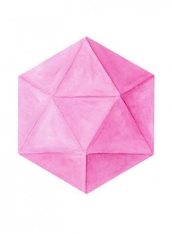 Acquerello sfondo geometrico