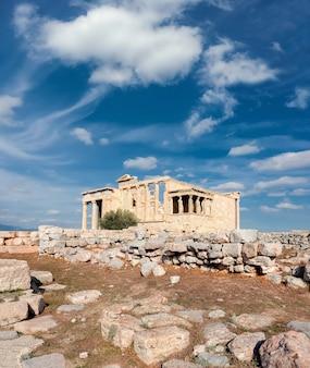 Acropoli del tempio di eretteo, atene, grecia