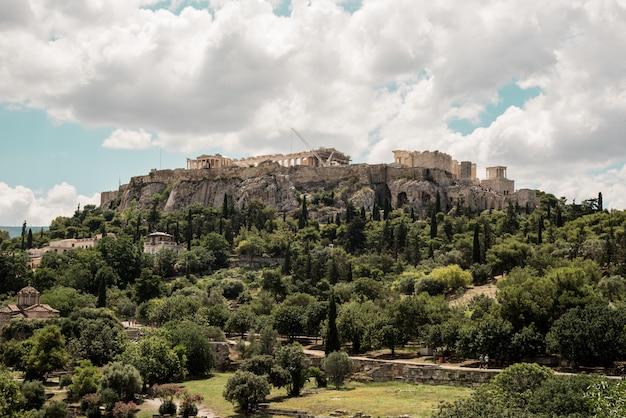 Acropoli di atene, in grecia