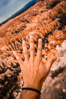 Addio simbolo al punto di ispirazione nel parco nazionale di bryce. utah, stati uniti