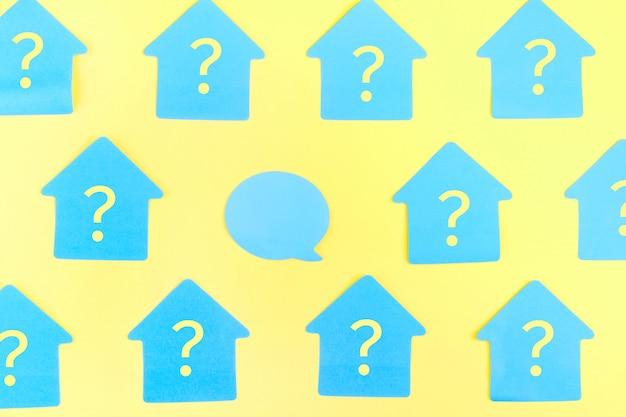 Adesivi blu a forma di casa