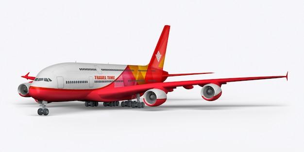 Aereo passeggeri 3d rendering