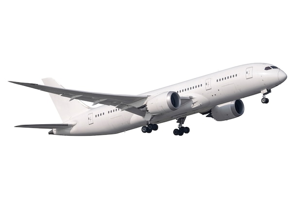 Aeroplano bianco del motore a propulsione