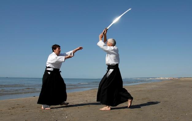 Aikido sulla spiaggia