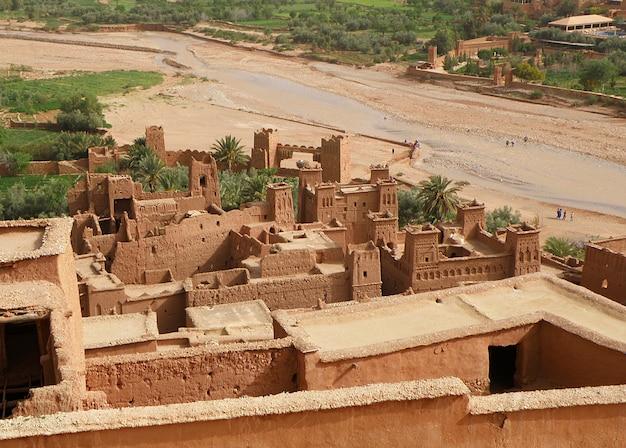 Ait ben haddou, città marocchina fortificata marocchina tradizionale