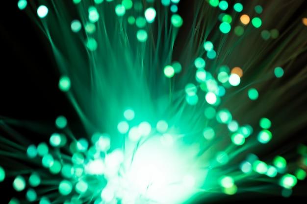 Alba blu astratta della luce di vetro di fibra