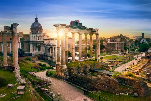 Alba italia dei bu della città di roma