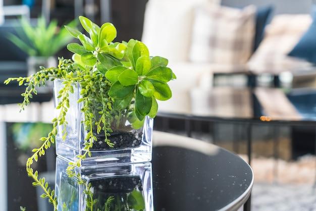 Albero in vaso decorazione sul tavolo