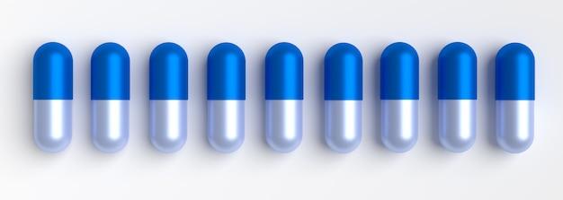 Alcune pillole della capsula isolate su bianco