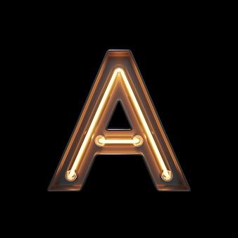 Alfabeto di luce al neon a