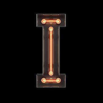 Alfabeto di luce al neon i
