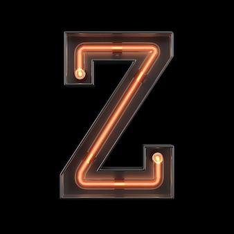 Alfabeto di luce al neon z