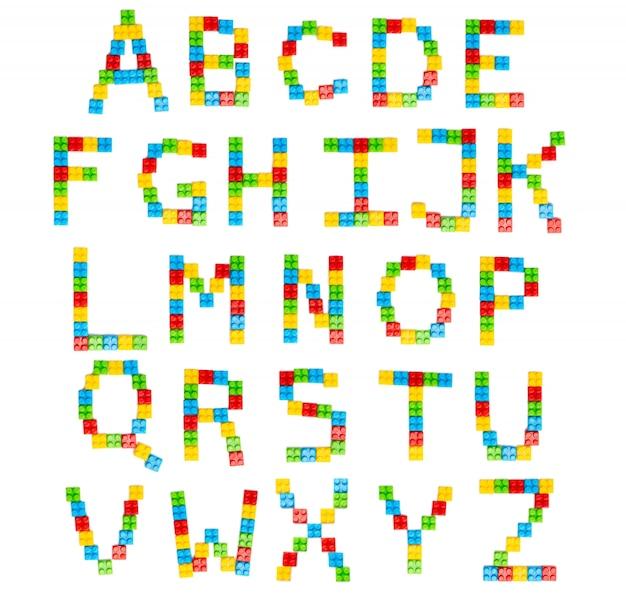 Alfabeto luminoso per il design dei bambini
