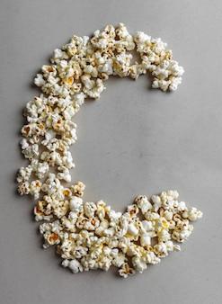 Alfabeto popcorn, isolato