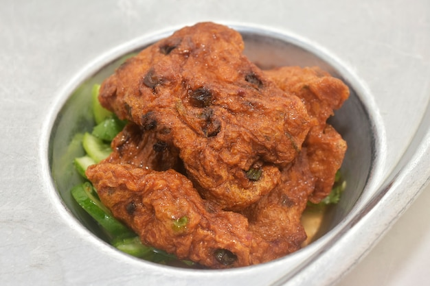 Alimento tailandese della torta di pesce fritto